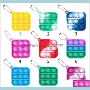 Party Favor Event & Supplies Festive Home Garden Decompression Toy Fidget Simple Dimple Keychain Push Bubble Pop It Toys Key Chain Ant