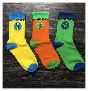 dunk Three pairs of dancing bear cotton sports socks