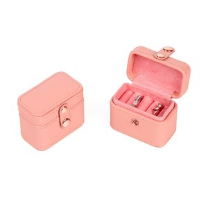 Jewelry Pouches, Bags Mini Snap Leather Ring Storage Box Earring Bangle Display Case Organizer 3410 Q2