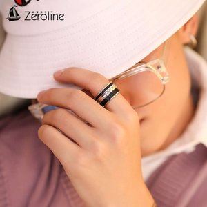 Zeroline aggrsive fashion men's titanium steel rotatable index personality trendy single tail ring children