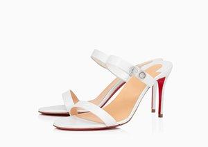 Kadın Kilit Beni 85 Kırmızı Dipleri Elbise Ayakkabı Yüksek Topuklu Bir Kayış Bayan Tasarımcılar Hakiki Deri Pompaları Bayanlar Moda Düğün Sandalet Boyutu 34-45