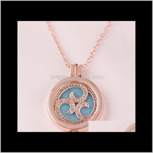 Necklaces Aromatherapy Essential Oil Diffuser Alloy Long Pendant Necklace X640 Lgg5H Olzjr