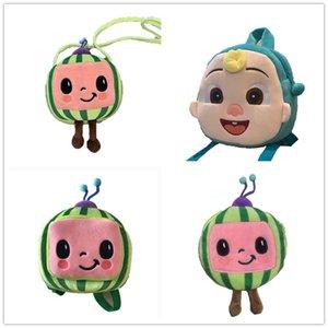 Cocomelon JJ Boys Movers мультфильм милый плюшевый рюкзак детская детская школьная сумка арбуз мини-девчонки пакеты сумки для детей пакет для детей T261