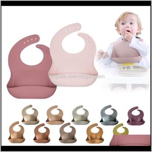 Baby, Kids Maternitykids Waterproof Baby Bibs Soft Adjustable Sile Flexible Feeding Bib Feedinggirl Boy Infant Colorbibs For Children & Burp