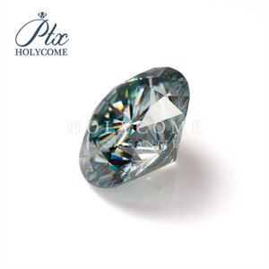 1ct green color round brilliant cut moissanite gemstones wholesale loose synthetic moissanite diamond for engagement diamond ring