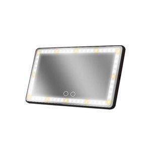 기타 인테리어 액세서리 USB 충전식 디 밍이 가능한 HD 허영심 LED 조명 내구성 여행 범용 태양 바이저 자동차 메이크업 미러 3 모드