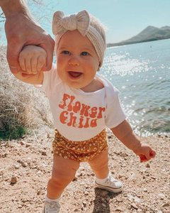 Jumpsuits Baby Girls 3Pcs Summer Outfits, Short Sleeve Letter Bodysuit + Floral Shorts Headband Set