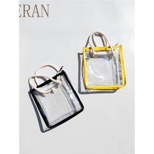 Kids Handbags Girls Bags Childrens Accessories Summer Beach Clear Bag Fashion Purse Casual B4858