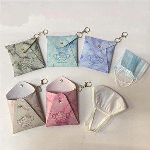 PU Leather Mask Storage Bag Dustproof Facemask Holder Masks Card Cover Girls Keyring Holder Fashion Accessories 8 Design BT5958