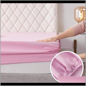Bedding Supplies Textiles Home Garden Drop Delivery 2021 Soft Fitted Sheet Polyester Solid Elastic Bands For Sheets Abrasion Resistant Bed Br