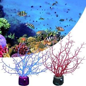 Decorations Simulation Silicone Branch Plant Tree Fluorescent Aquarium Decor Fish Tank Ornament Landscape For Home