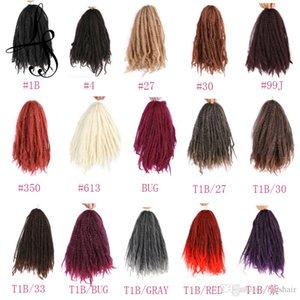 Afro Kinky Curly Hair Bulk Twist Braid Free tress Synthetic Hair Bulk Extensions Marley Braid Synthetic 18