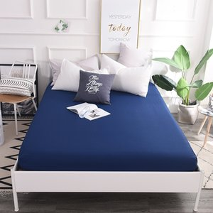 Svetanya 100 Cotton Fitted Sheets Plain Solid Color Bedsheets Elastic Mattress Cover Protective Case Single Full Double Queen 1817 V2