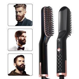 Elektrikli Sıcak Doğrultma Saç Fırçası Kadınlar Uzun Kısa Saç Erkek Sakal Düzleştirici Sıcak Tarak Ev Salon Saç Bakımı Şekillendirici Araçları