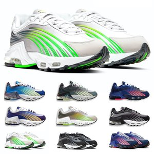 Tn Plus 2 II Tuned Running Shoes Mens Trainers Chaussures Triple White Black Hyper Blue Green OG Neon Womens Sneakers Sports Runners 5.5-10