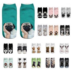 Men unisex sports socks 3D cartoon animal print casual short ankle Calcetines crazy fun gift1