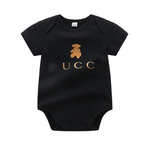 طفل الفتيان الفتيات السروال القصير طفل الكرتون الدب قصيرة الأكمام حللا ماركة الملابس الاطفال القطن نيسيس الملابس الرضع