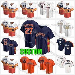 27 Jose Altuve Jersey Houston 35 Justin Verlander Astros 7 Craig Biggio Джетки 2 Алекс Брегман 5 Джефф Бамуэлл Карлос Correra Nolan Ryan