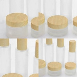 Diy Cosmetic Jars Pump Head Empty Perfume Lotion Bottles Wood Grain Cover Frosted Glass Subpackage Container Lady 2 83fy F2 BAKS