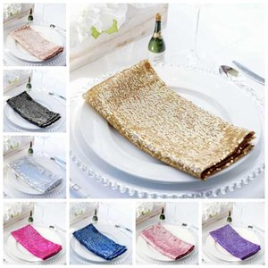Glitter Sequin Linen Napkin Wedding Table Cloth Napkins For Banquet Event Decoration Home Party