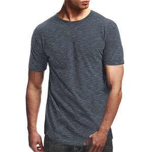 7 Colors Mens T Shirts Breathable Short sleeve Fitness Cotton Europe and America Round Neck Slim Fit T-shirt Casual Fashion Clothes