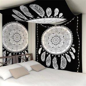 2020 Mandala Goblen Polyester 150 * 130 cm Dikdörtgen Goblen Duvar Asılı Halı Atmak Yoga Mat Ev Yatak Odası Dekorasyon için 518 S2