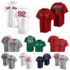 Новый бейсбол 2 Xander Bogaerts Джерси 92 Джаррен Дюран 40 Marco Hernandez 29 Bobby Dalbec 41 Chris Sale Навести синий красный белый серый
