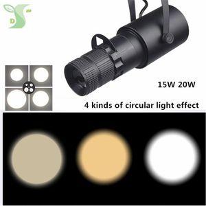 15w 20w Cob Spotlights LED Track Light Lamp Zoom Lighting 4 Kinds Of Effects Ceiling Type Rail Lights