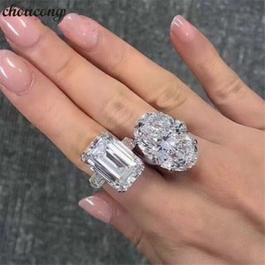 choucong Luxury Promise Ring Real 925 sterling Silver Diamond Engagement Wedding band Rings For Women Fine Jewelry