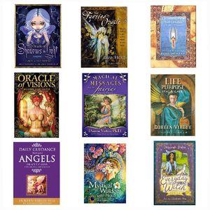 Card Games Tarot Cards Deck English Tarots cartoon Divination oracle children Gift 16 styles Z2934