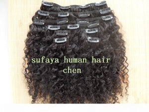 new star brazilian human hair extensions curly clip in hair weaves natural black color 9 pcs one bundle set
