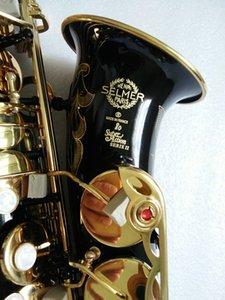 Высокое качество Super Action 80 Series II Flamingo Saxophone Черное тело Золотой Ключ Alto Полный цветок EB Tune 802 Модель E Flat Sax с Ридс Чехол Мундштук Professional