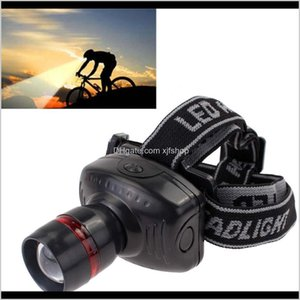 Headlamps 3W Led Headlamp Outdoor Flashlight 3 Gears Torch Headlight Head Light Zoomable Lamp Camping Fishing Tools Vtvqz 41Tbs