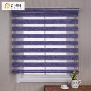 Blinds DIHIN HOME Luxury Linen Color Customized Zebra Water Proof Day Night Double Layer Rollor Blind Window Curtains