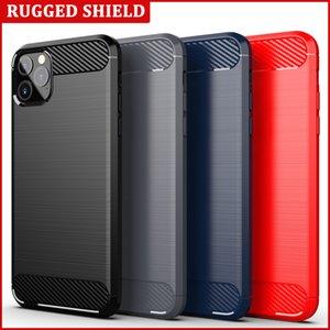 50 шт. / Лот Apple Coque для iPhone 11 Pro Max Case Carber Carble Fiber Matifed Texture Мягкий телефон TPU Cover Iphone11 11Pro
