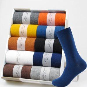 5 paires robe d'entreprise chaussettes respirant hiver hiver chaud chaussettes de coton chaud de haute qualité de haute qualité heureuse chaussettes colorées pour homme cadeau