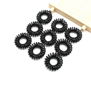 2.5cm High Quality small Telephone Wire Cord Gum Hair Tie Girls Elastic Hair Band Ring Rope Candy Color Bracelet Stretchy Scrunchy 292 G2