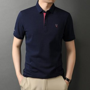 Very Good Quality Men's Shirts Business US Designer Short Sleeve Breathable Embroidery Soft Summer Clothing D889 Polos