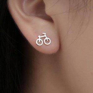 Lovely Color Stud Earrings Biker Cute Tiny Bike Bicycle Earring For Women Friend Creative Gifts Ear Jewelry