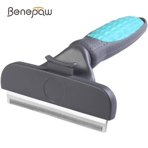 Benepaw Profsional Self Cleaning Dog Comb Comfortable Handle Long Short Hair Pet Brush Grooming Effective Dhedding Tool