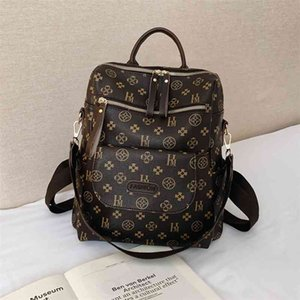 Classic Flower Backpack High Quality PU Leather Designer Backpack French Style Luxurious Backpack Lady Vintage Bag for Women 210401