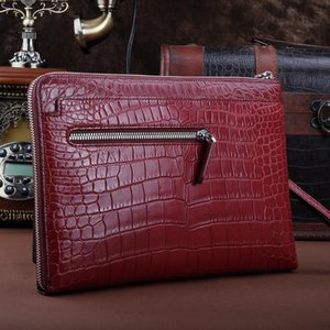 New Hot Bag Clutch Clip Thin Men's Real Bag Crocodile Black Belly Leather Free Sale Bccxd