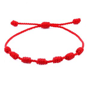 Chinese Style Red Rope Handmade Braided Knot Adjustable Charm Bracelets For Friends Women Men Family Lovers Birthday Lucky Jewelry