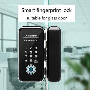 Fingerprint Smart Lock Digital Lock for Double Open Glass Door Fingerprint Keyless Door Lock English
