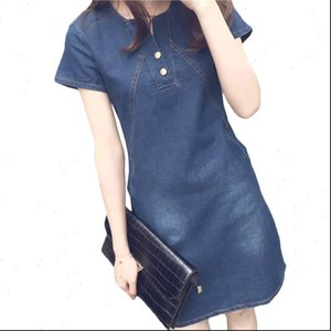 Plus Size Women Dresses 5XL Denim Dress For Summer Casual Jeans With Button Sexy Mini Womens Clothing