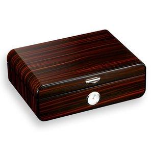 Cigar Case Piano Paint Black Ceedar Wood HumiDor Case Gate
