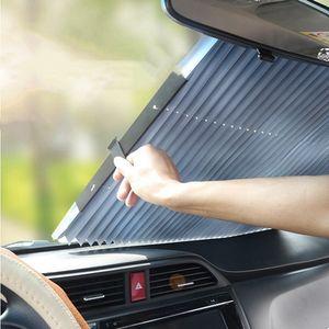 Автомобиль Sunshade Солнцезащитный крем Теплоизоляция Передняя и задняя занавес Автоматические выдвижные подушки Автомобили интерьера Аксессуары