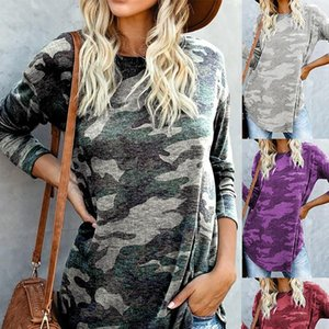 Women Blouses Sale Blouse Fashion Womens Camouflage Print O neck Long Sleeve Casual Pullover Shirt 45