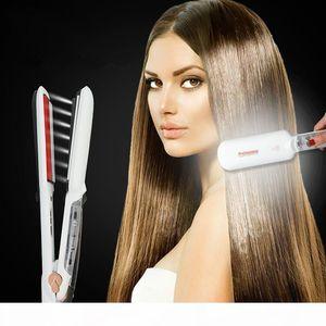 Professional Steam Hair Straightener Ceramic Vapor Infrared Heating Flat Iron Steampod Salon 2 inch Styling Tool Wet hairstyler