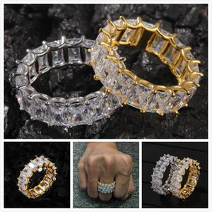 personalized 925 Sterling Silver Blingbling CZ Cubic Zirconia Wedding Engagement Band Ring for Couple Hip Hop Rapper Jewelry Lovers Gifts